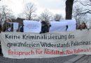Freispruch für Abdallah Abu Rahmah! Protestwache vor der israelischen Botschaft in Berlin