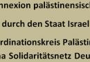 Betrifft: Geplante Annexion palästinensischer Gebiete durch den Staat Israel